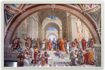 The School Of Athens Is A Fresco Created By Italian Renaissance Artist Raphael Raffaello Sanzio It Was Painted Between 1509 And 1511 As Part